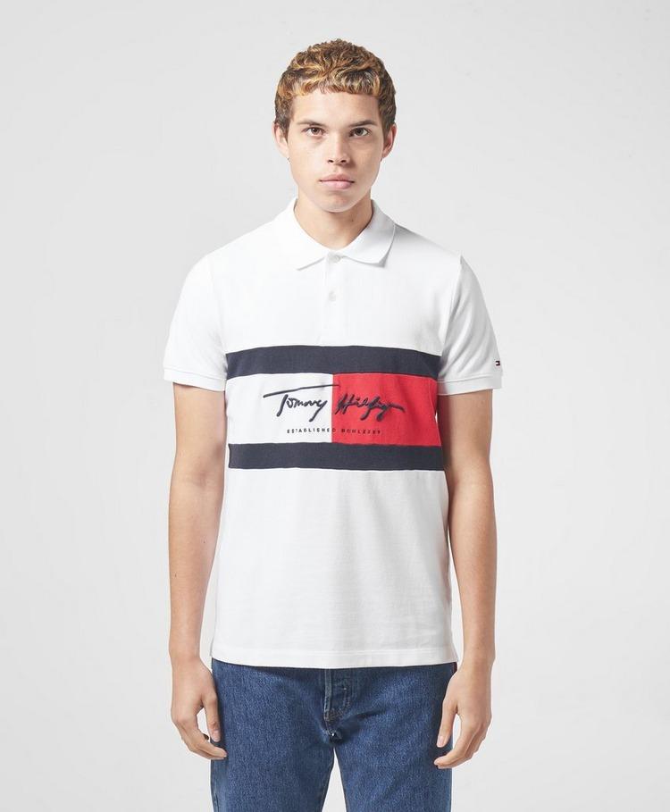 Tommy Hilfiger Signature Flag Short Sleeve Polo Shirt
