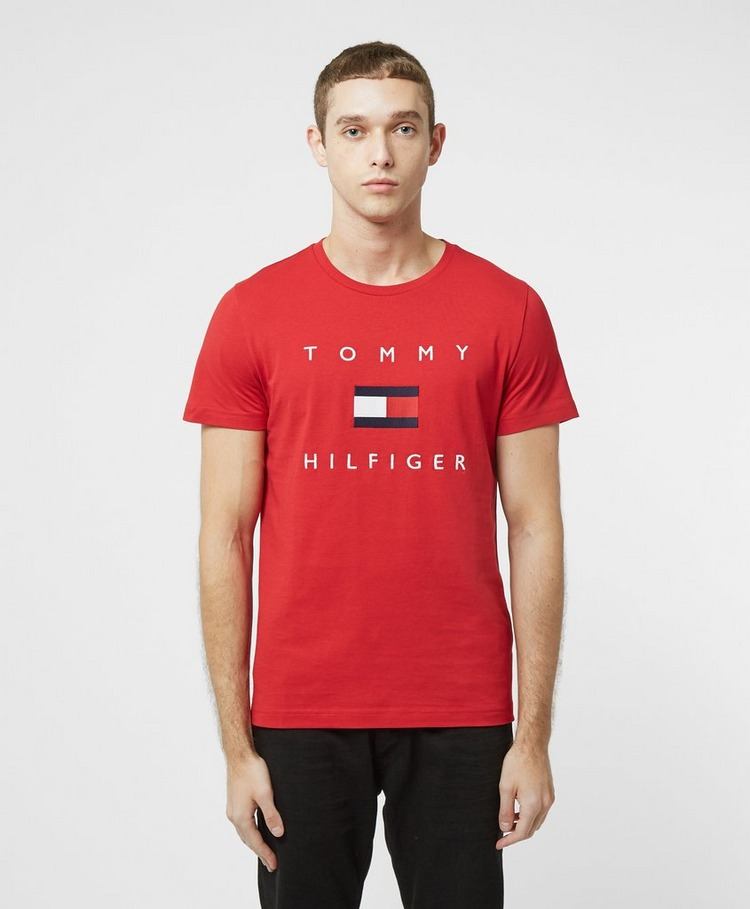 Tommy Hilfiger Embroidered Flag Short Sleeve T-Shirt