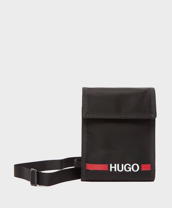 HUGO Record Stripe Neck Pouch Bag