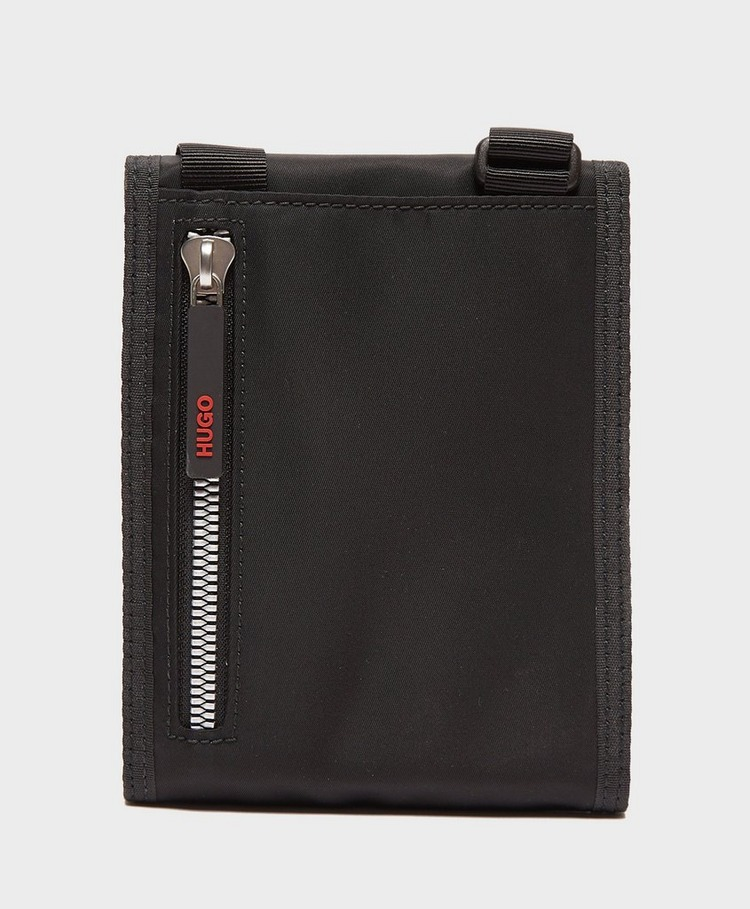HUGO Record Stripe Neck Pouch Bag