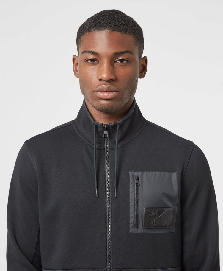 Calvin Klein Jeans Mix Media Track Top