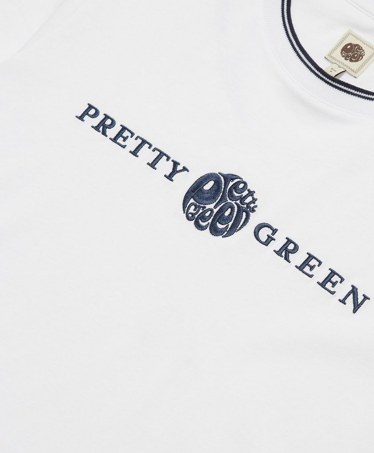 Pretty Green Layland Short Sleeve Tipped T-Shirt