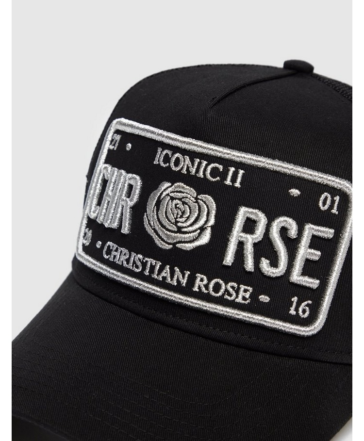 Christian Rose Icon Plate Cap