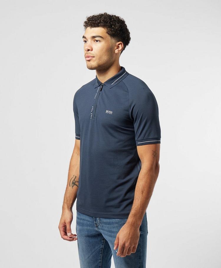 BOSS Philix Pinstripe Short Sleeve Polo Shirt