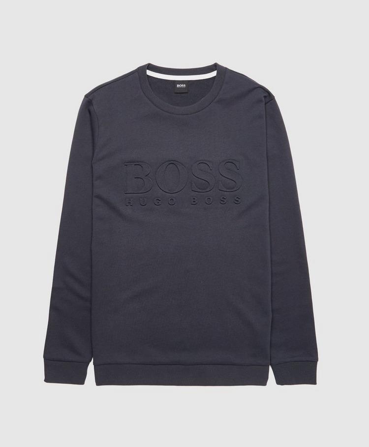 BOSS Debossed Crew Sweatshirt