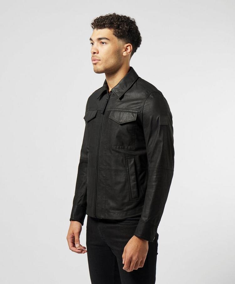 BOSS Jobean Leather Overshirt