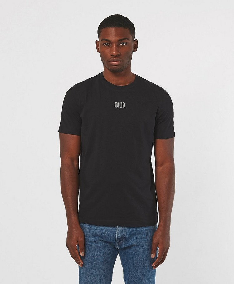 HUGO Durned Central Logo Short Sleeve T-Shirt