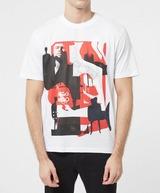 HUGO Dentral Collage Short Sleeve T-Shirt