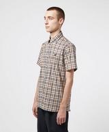 Aquascutum Moore Short Sleeve Tartan Shirt