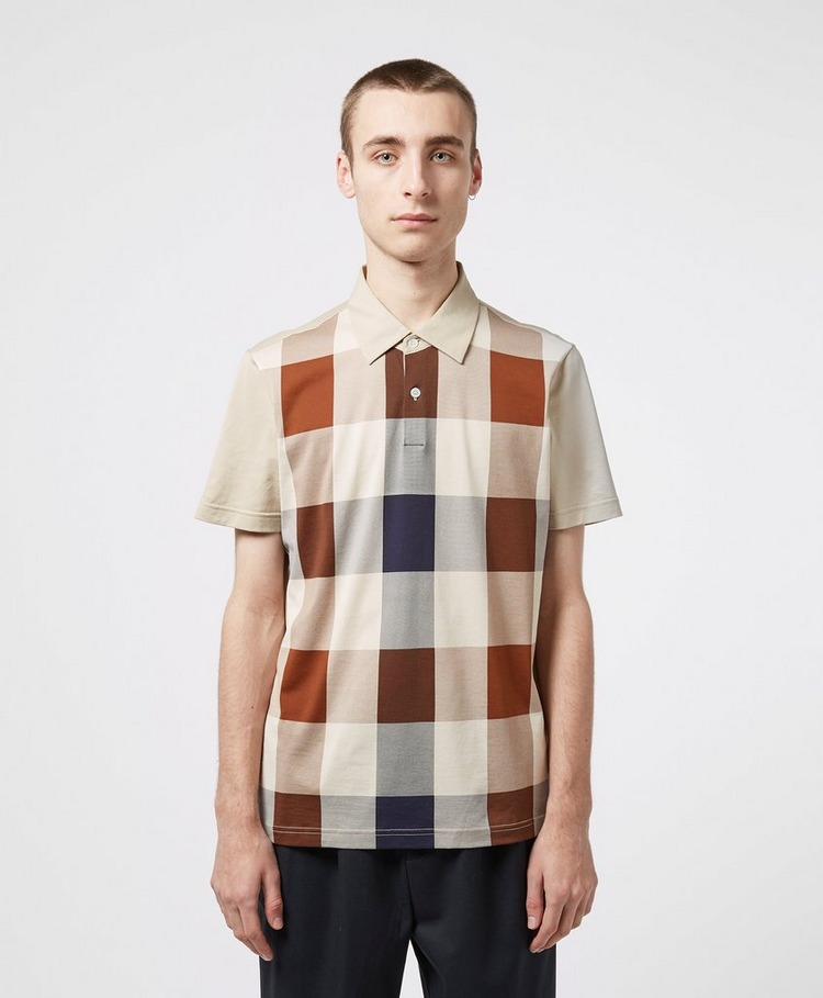 Aquascutum Large Club CheckShort Sleeve Polo Shirt
