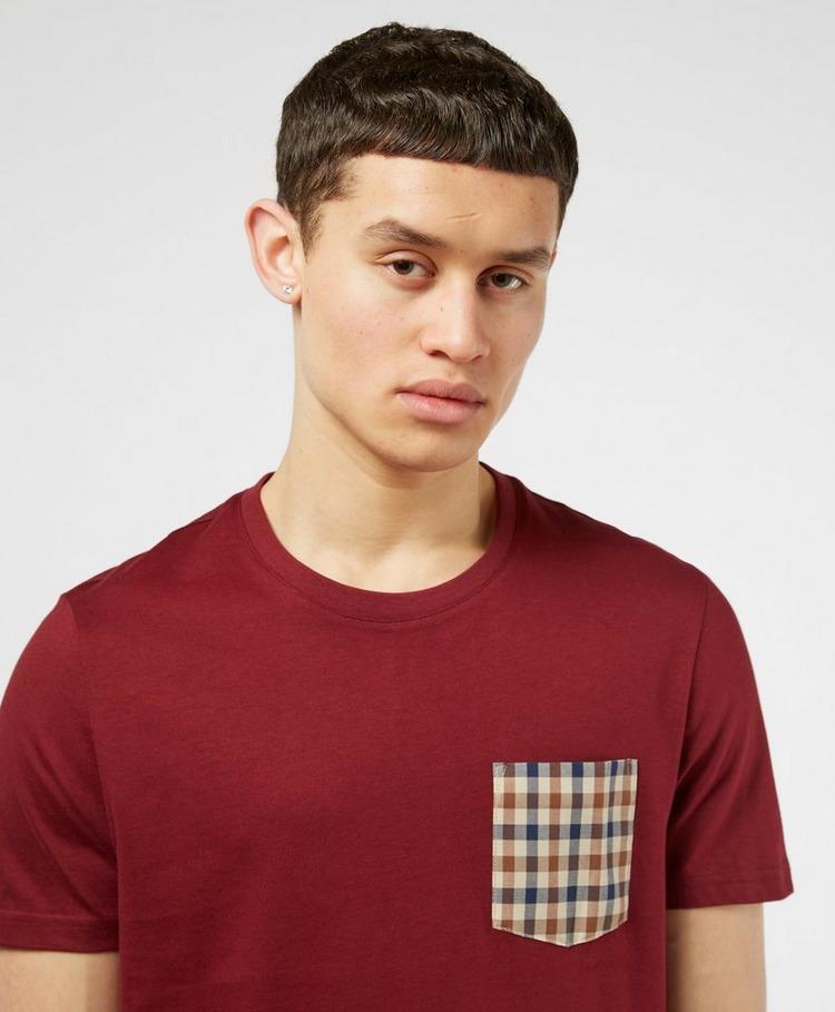 Aquascutum Club Check Pocket Short Sleeve T-Shirt
