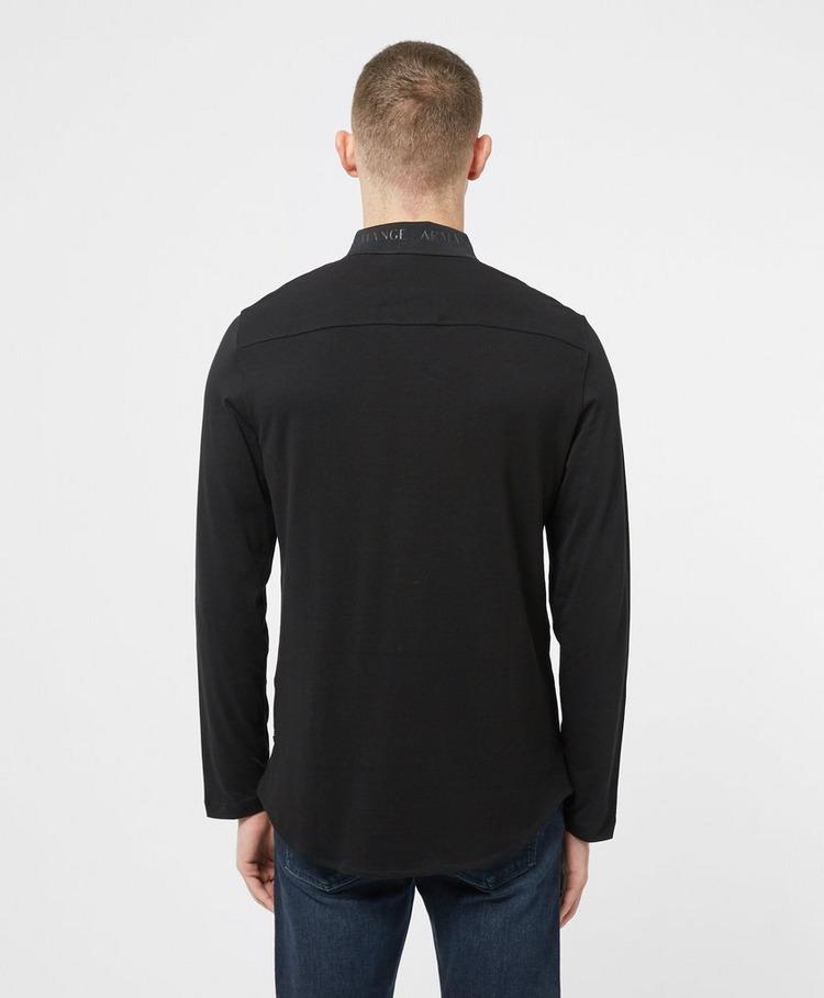 Armani Exchange Logo Collar Long Sleeve Shirt