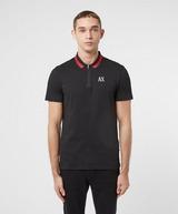 Armani Exchange Trim Collar Short Sleeve Polo Shirt