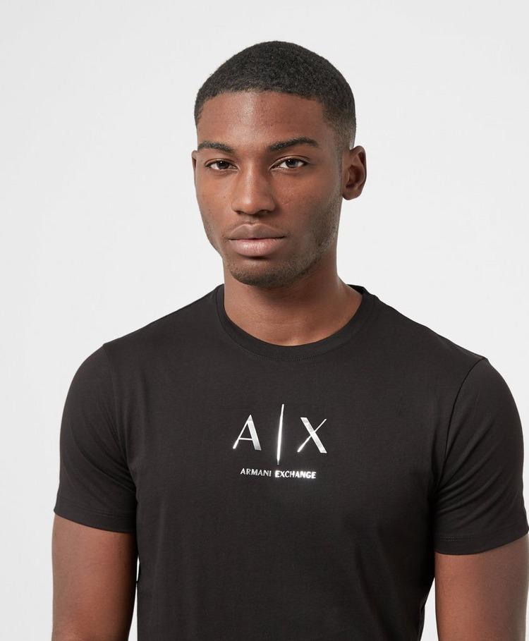 Armani Exchange Central Shiny Logo Short Sleeve T-Shirt