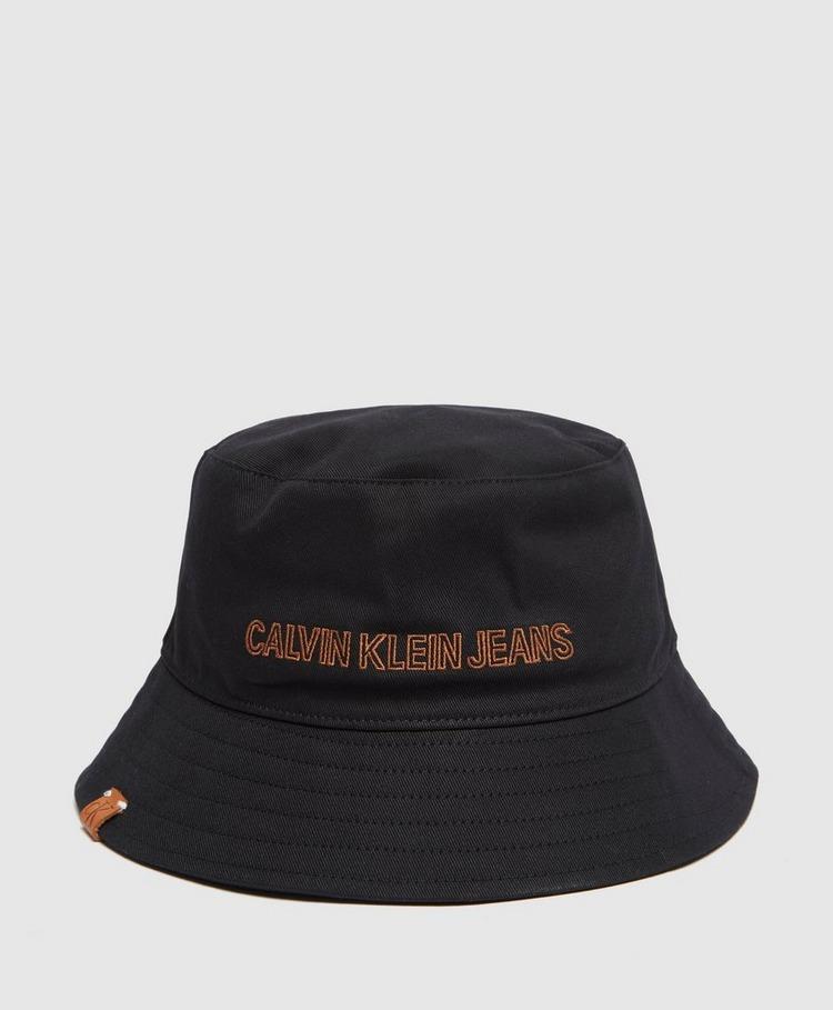 Calvin Klein Jeans Orange Logo Bucket Hat