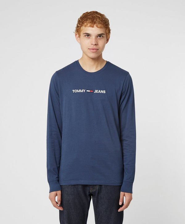 Tommy Jeans Straight Logo Long Sleeve T-Shirt