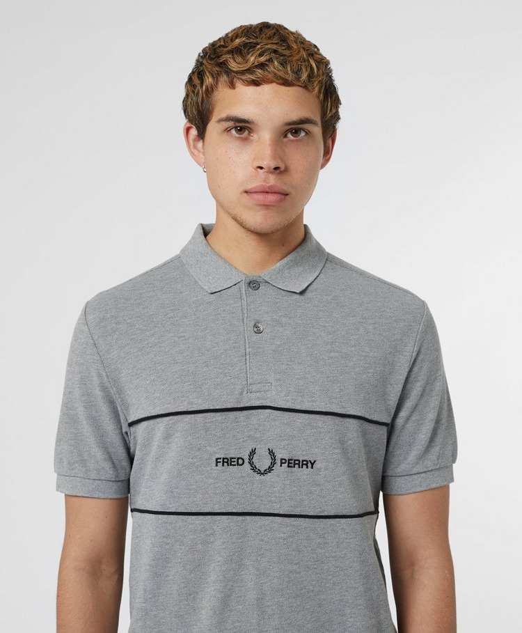 Fred Perry Embroidered Panel Short Sleeve Polo Shirt
