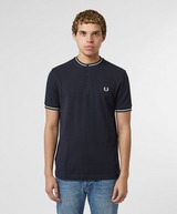 Fred Perry Tipped Henley Short Sleeve Polo Shirt