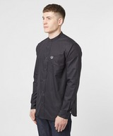 Fred Perry Grandad Collar Long Sleeve Shirt