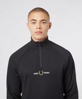 Fred Perry Half Zip Logo Sweatshirt - Exclusive