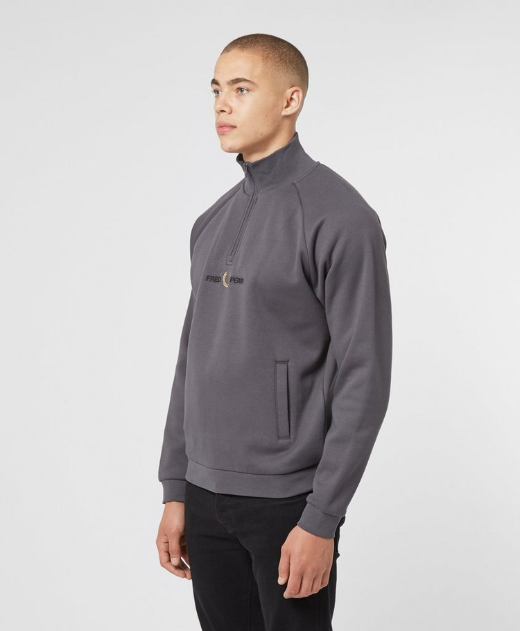 Fred Perry Half Zip Logo Sweatshirt - Exclusive