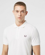 Fred Perry Zip Neck Short Sleeve Taped Polo Shirt