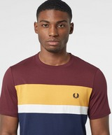 Fred Perry Vertical Colour Block Short Sleeve T-Shirt