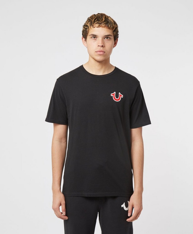 True Religion Buddha Print Short Sleeve T-Shirt