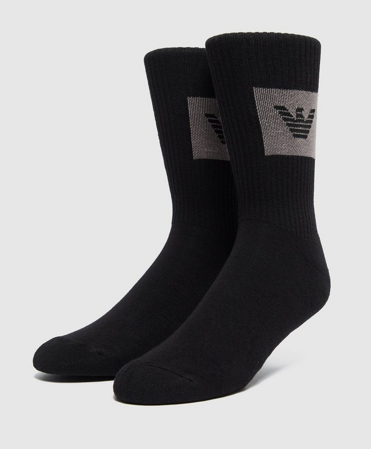 Emporio Armani Loungewear 2 Pack Logo Socks