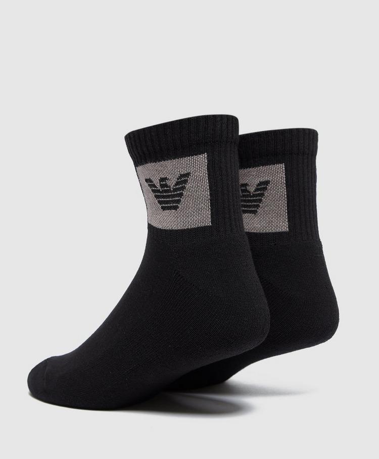 Emporio Armani Loungewear Patch Logo Quarter Socks