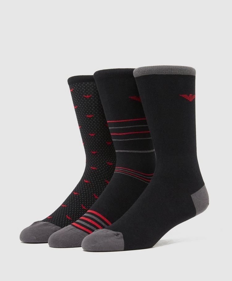 Emporio Armani 3-Pack Dot Gift Socks