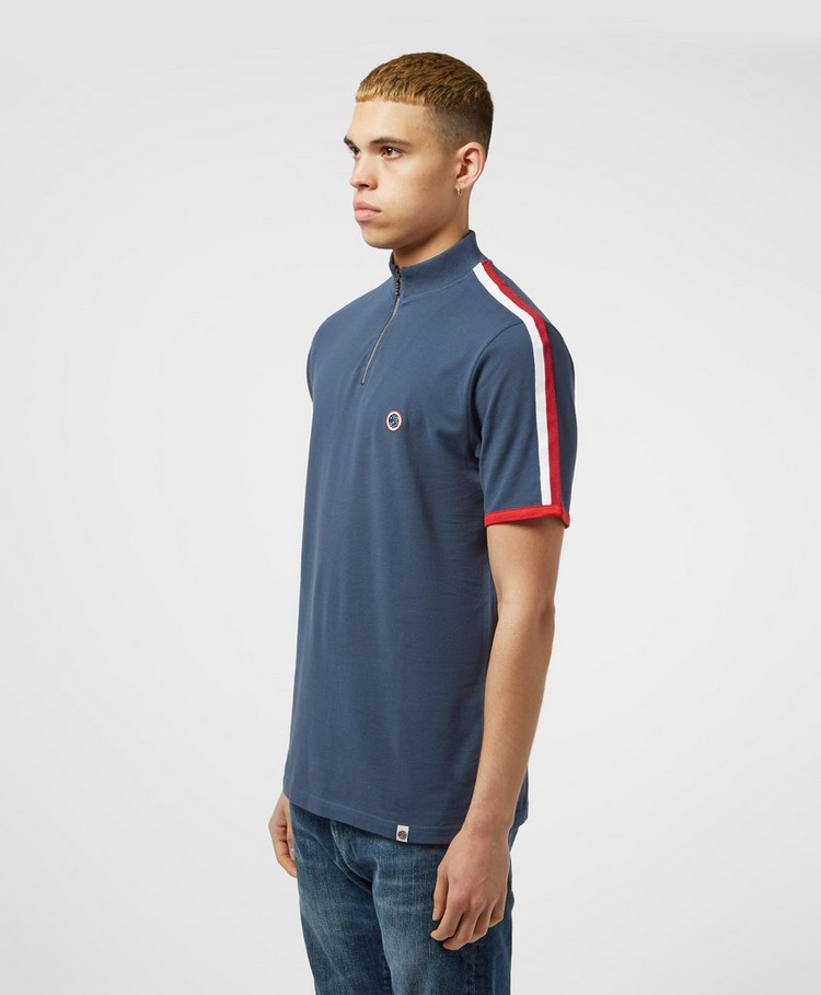 Pretty Green Zip Neck Short Sleeve T-Shirt