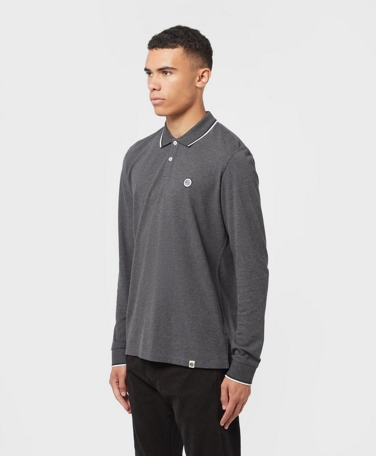 Pretty Green Pique Long Sleeve Polo Shirt