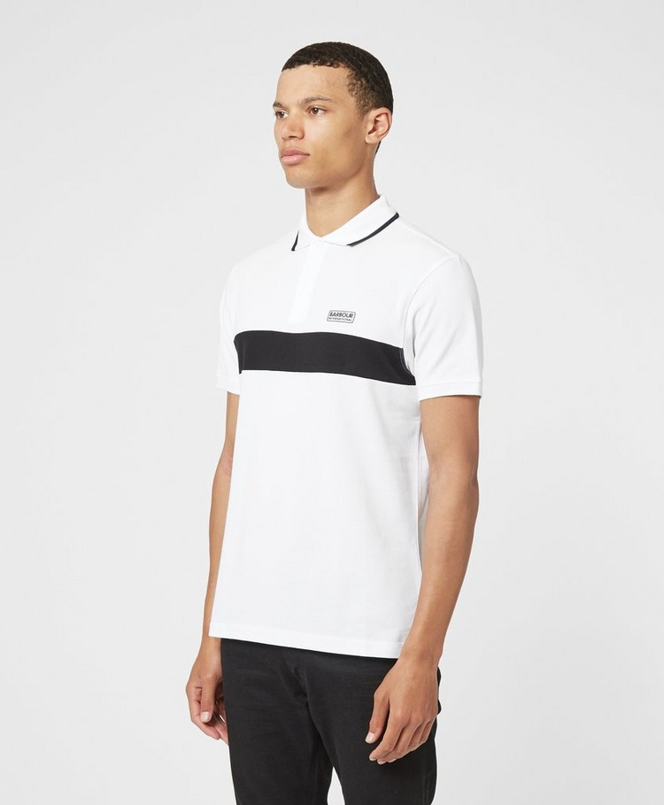 Barbour International Block Stripe Short Sleeve Polo Shirt