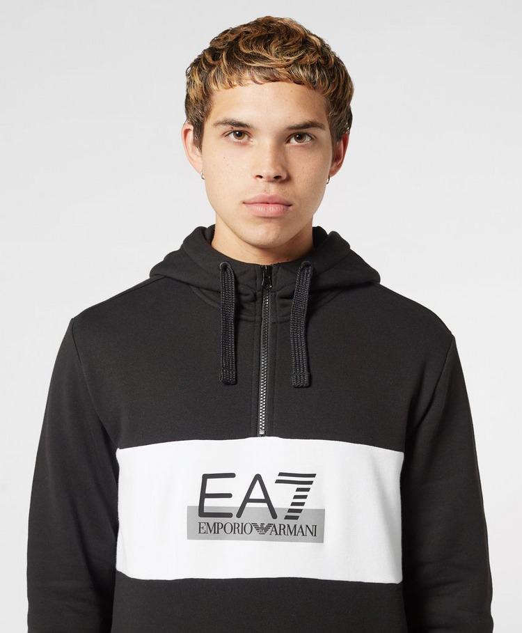 Emporio Armani EA7 Premium Basics Half Zip Hoodie - Exclusive