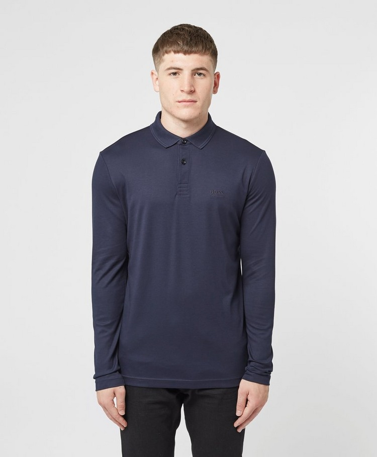 BOSS Pirol Mercerised Long Sleeve Polo Shirt