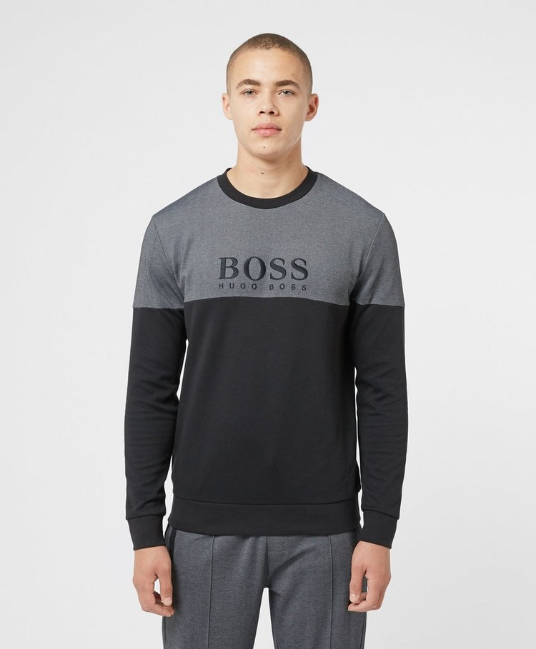 BOSS Pique Mix Crew Sweatshirt
