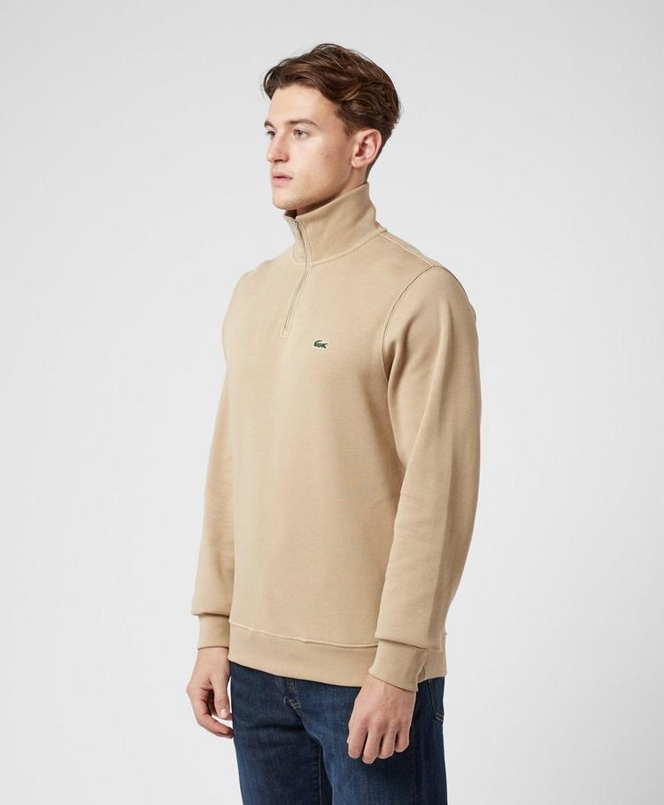 Lacoste Ribbed Half Zip Sweatshirt