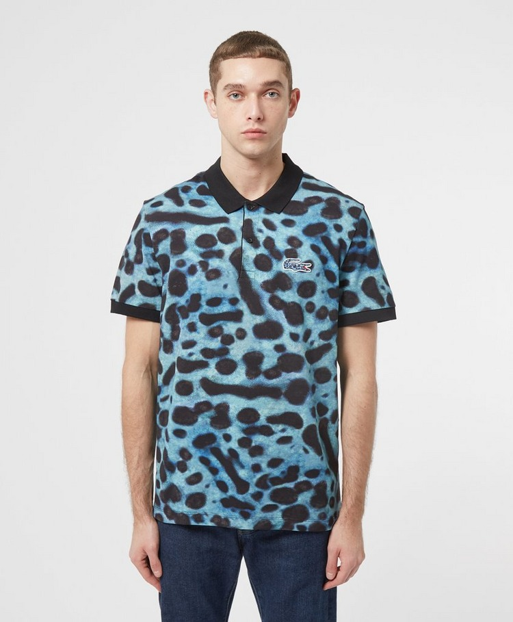 Lacoste National Geographic Leopard Print Polo Shirt