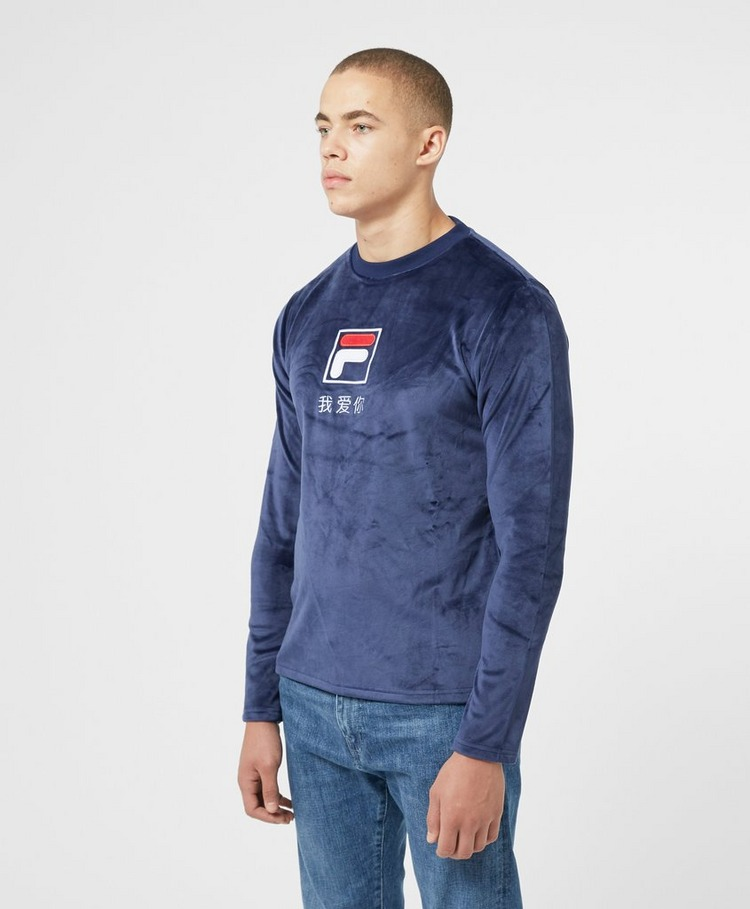 Fila Dalbert Velour Long Sleeve T-Shirt