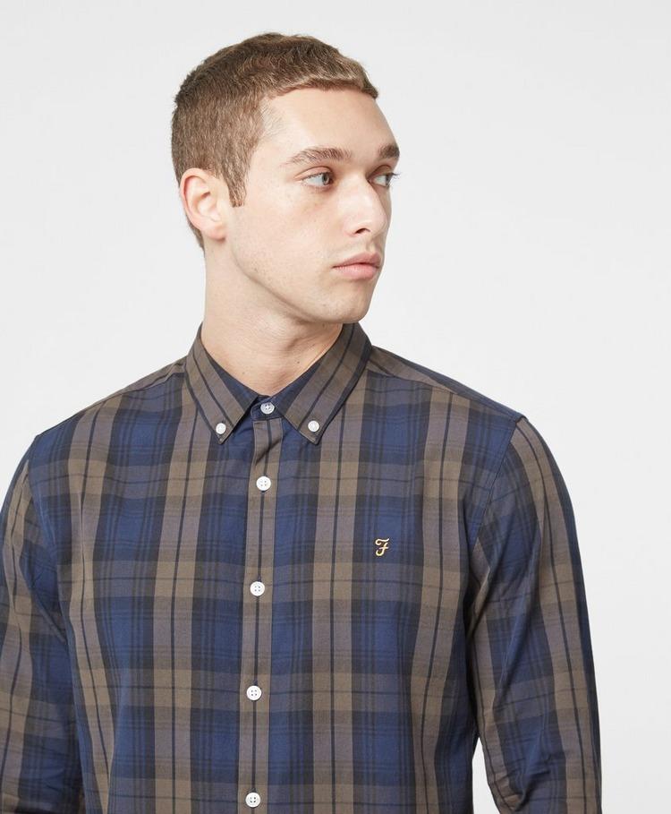 Farah Brewer Long Sleeve Tartan Shirt