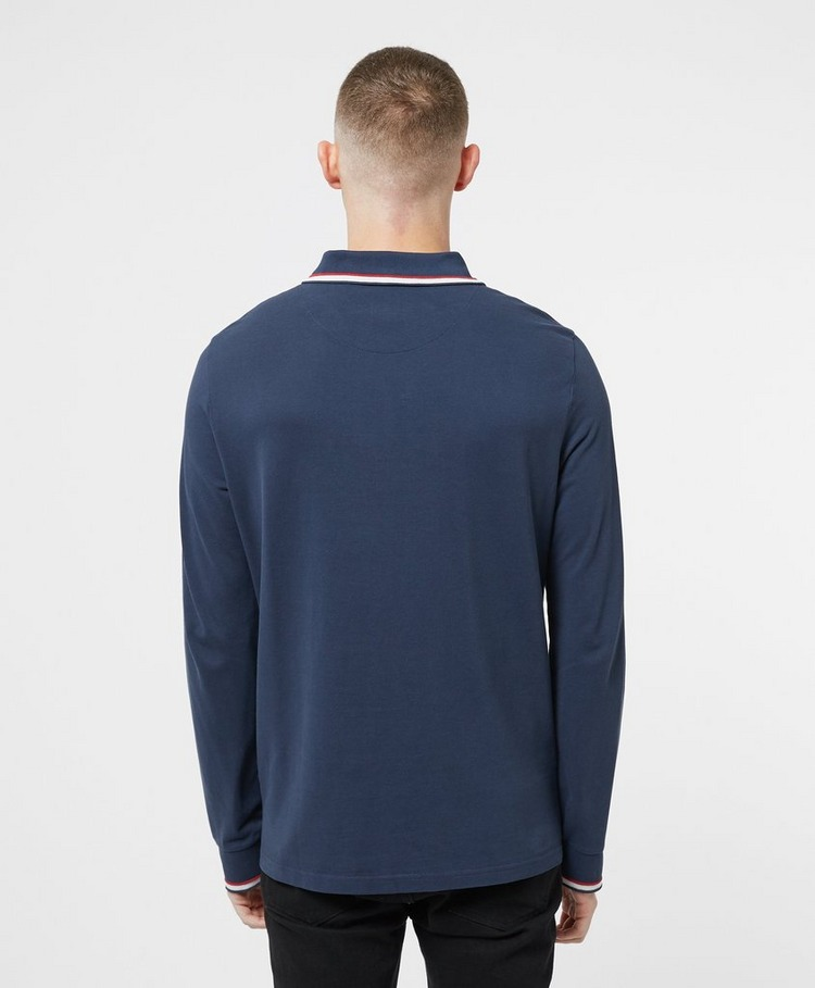 Pretty Green Likeminded Long Sleeve Polo Shirt