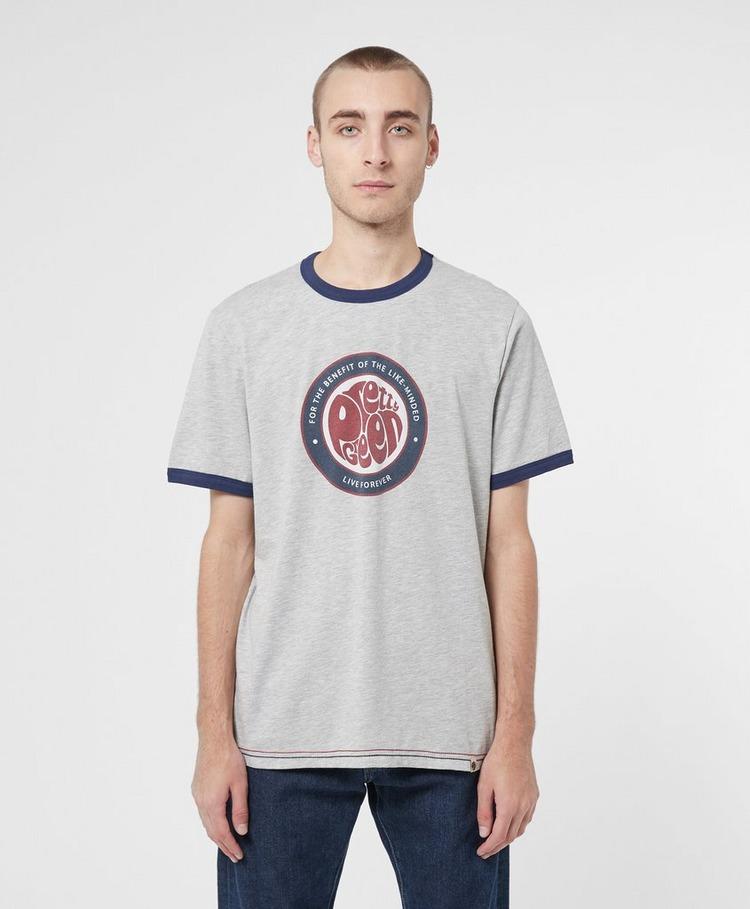 Pretty Green Likeminded Logo Ringer Short Sleeve T-Shirt