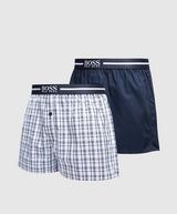 BOSS 2 Pack Woven Boxer Shorts