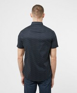 Armani Exchange All Over Micro Logo Short Sleeve Shirt