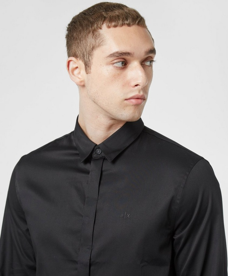 Armani Exchange Concealed Button Long Sleeve Shirt
