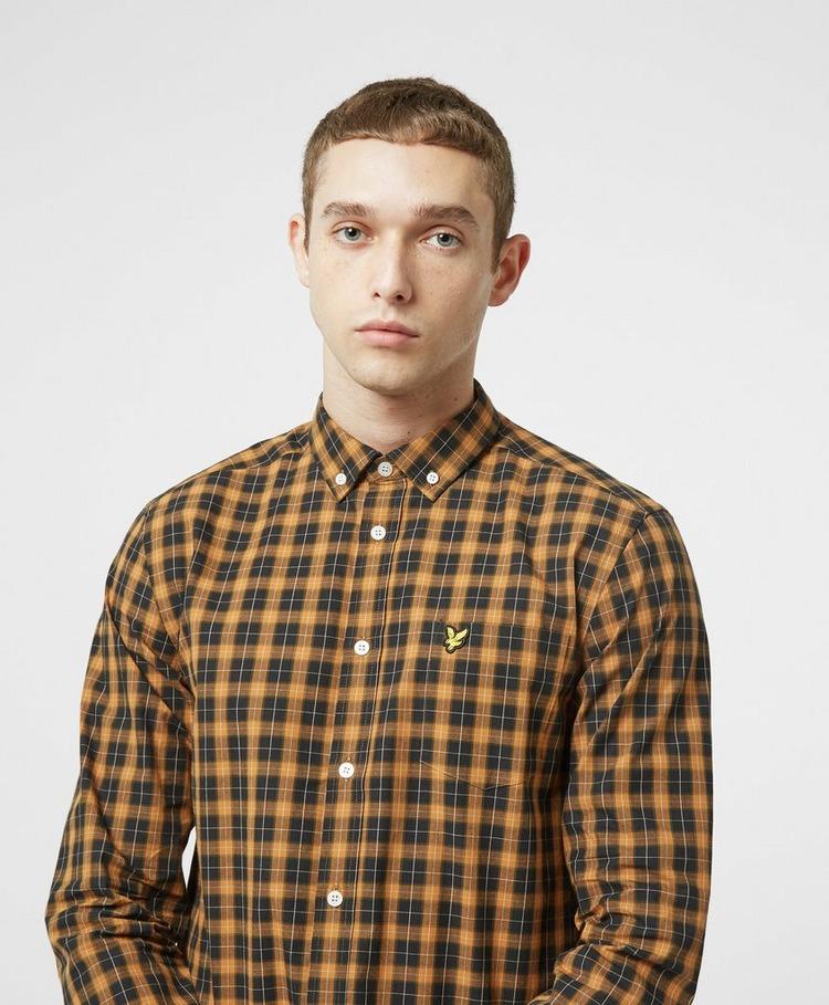 Lyle & Scott Check Poplin Long Sleeve Shirt