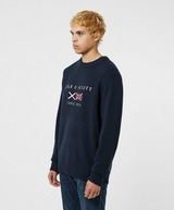 Lyle & Scott Embroidered Flag Crew Knit Jumper