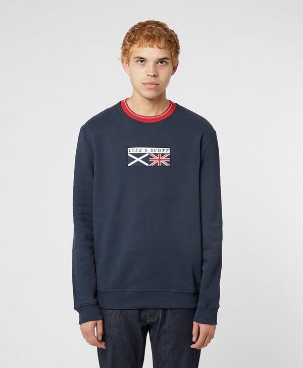 Lyle & Scott Embroidered Flag Sweatshirt