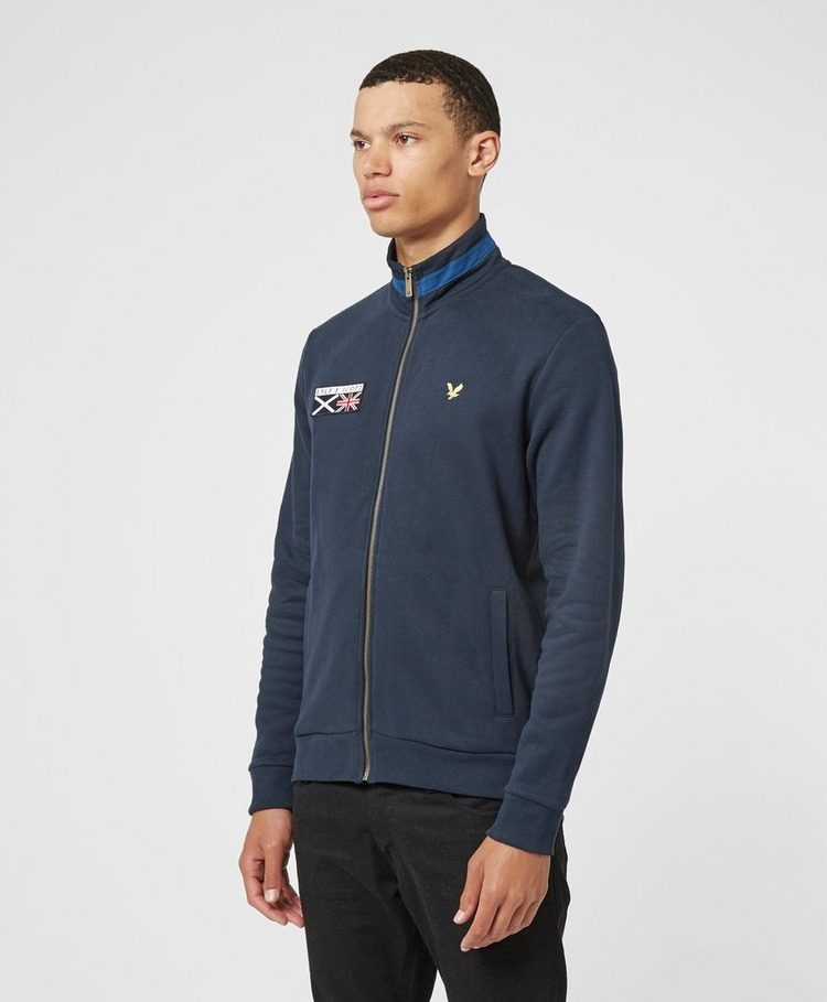 Lyle & Scott Embroidered Funnel Track Top